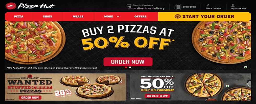 Pizza Hut Online Deals in India