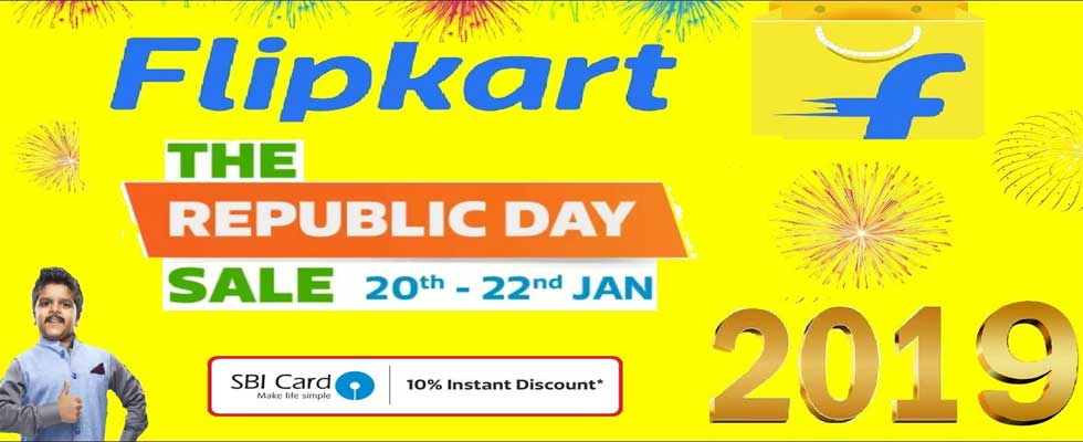 Flipkart Republic Day Sale Jan. 2019 - 10% Instant Discount on SBI Credit Cards Offers