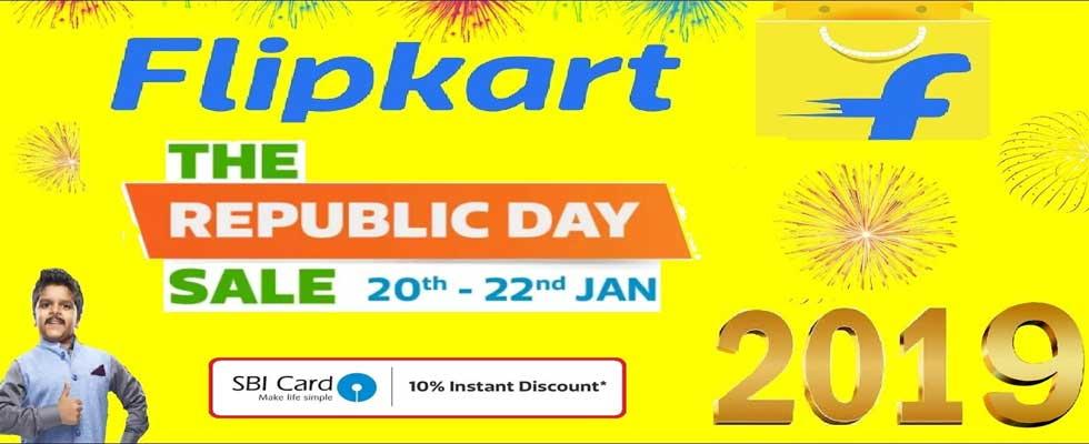 Flipkart Republic Day Sale Jan. 2019 - 10% Instant Discount on SBI Credit Cards Offers