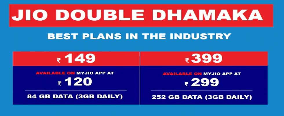 Jio Prepaid and Postpaid Recharge Plan List 2019