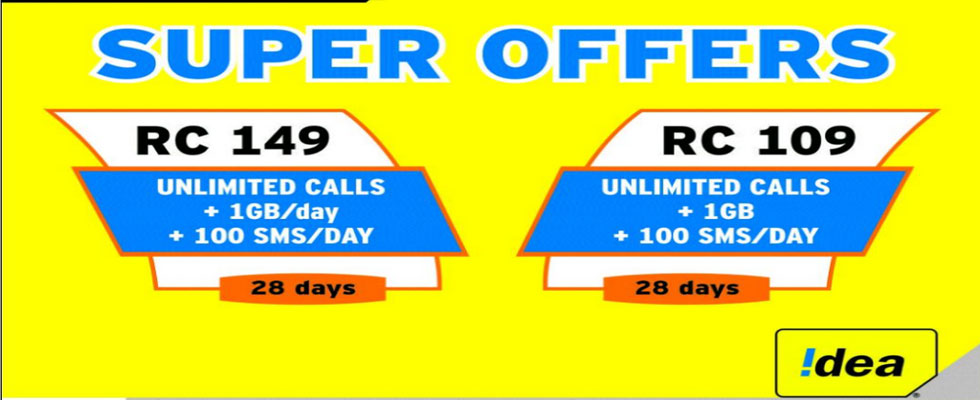 Idea Prepaid Recharge Offers Plan Online