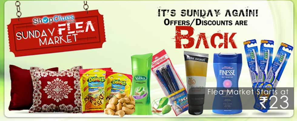 What is ShopClues Sunday Flea Market?