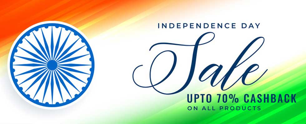 Independence Day SALE- Gear Up For Whooping Discounts