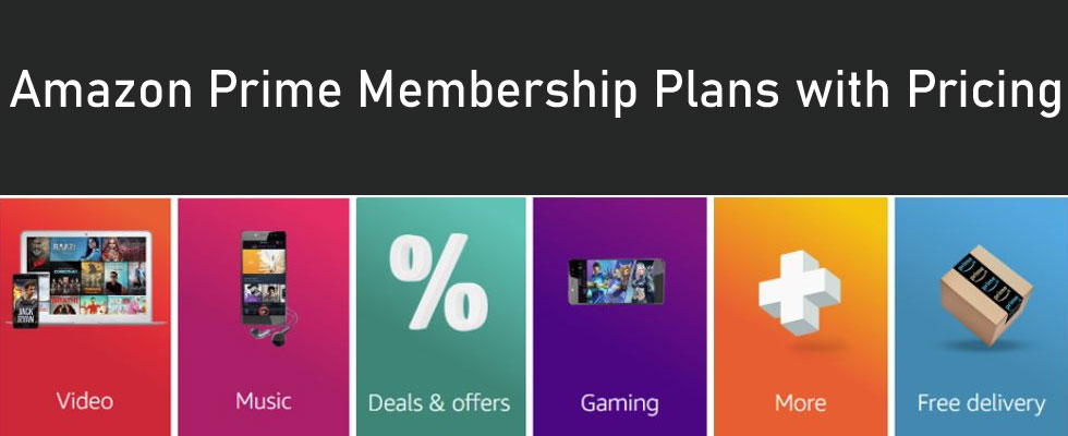 Amazon Prime Video Membership Subscription Plans with Cost