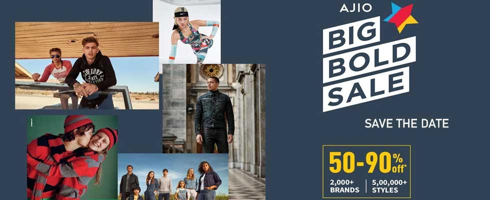 Ajio Big Bold Sale- Splendid Discounts Up to 80%