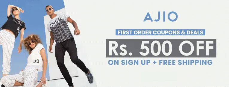 ajio first time users