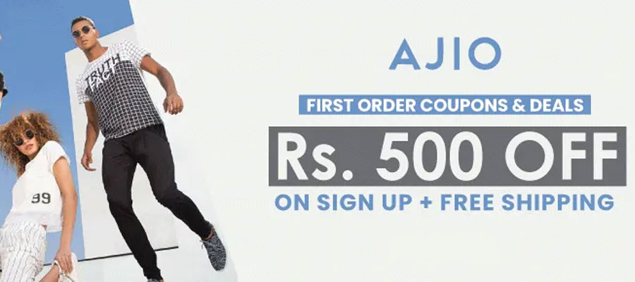 ajio rs.500 on rs.1250 coupon code