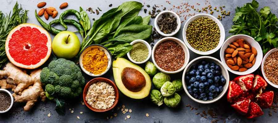 healthy food and supplements