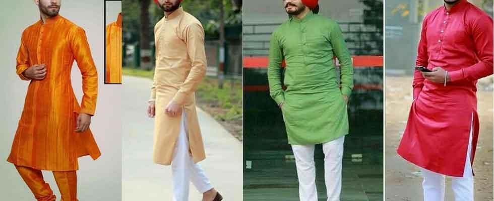 punjabi dress for men: kurta payjama