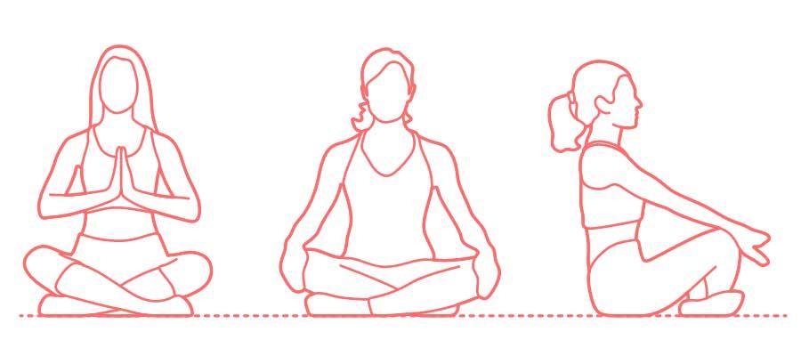 sukhasana yoga steps